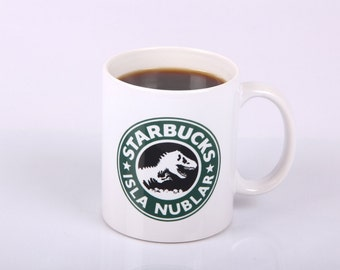 Jurassic Park Starbucks inspired Isla Nublar Mug Jurassic World 11oz