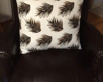 Palm Leaf decorative pillow