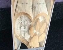 Beautiful Paw Print in Heart Bookfold