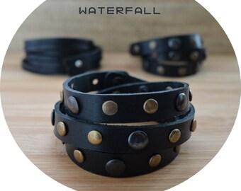 New Stylish Woman handmade Genuine Leather bracelet (wristband, bangle)