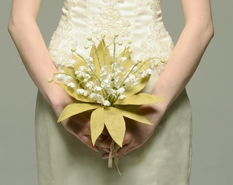 Lily of the Valley Paper Bridal Bouquet - Keepsake Royal Bouquet
