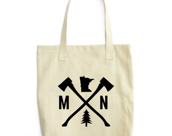 Minnesota Tote Bag | Minnesota Canvas Bag | Minnesota bag | Minnesota Tote | Minnesota Gift | Minnesota Present