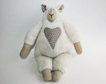 Handmade Adorable Sheep Plush Toy | Personalized Stuffed Animal