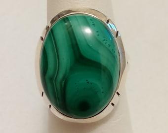 Large Malachite Ring