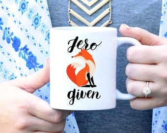Zero Fox Mug, Zero Fox Given Mug, F*ck Mug, Curse Word Mug, Funny Mug, Unique Mug, Rose Gold Rebel, Cute Coffee Mug, Sassy Mug, Zero F*cks