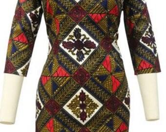 African Wax Print/ Batik/ Ankara dress for women