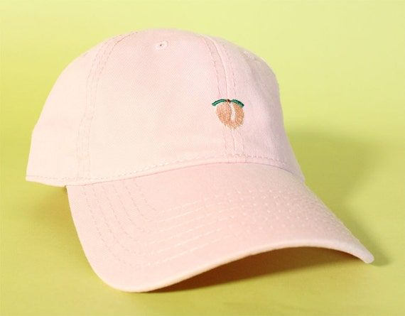 NEW Peach Baseball Hat Dad Hat Low Profile White Pink Black Casquette Embroidered Unisex Adjustable Strap Back Baseball Cap