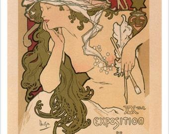 20th Exhibition Of The Salon De Cent Alphonse Mucha France 1896 24x36 Hot
