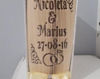 Personalised wedding folded book art // cut and fold // personalised wedding gift // wedding book fold // origami wedding gift // book fold