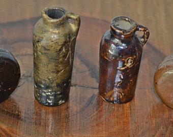 Collection of Miniature Stoneware Jugs, Miniature Pottery