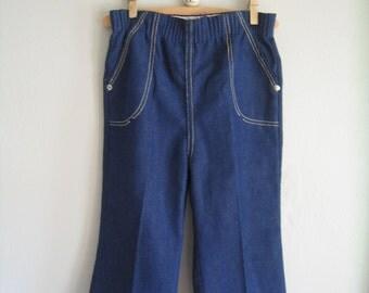 SALE Vintage 70's Bell Bottoms, Size 3T -- Vintage Clothing for Kids -- Vintage Flare Jeans