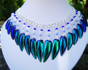 Necklace with Jewel Beetle Wings (Elytra)