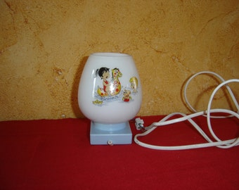 Lampe vintage. Applique murale enfants. 70's. No copy. No reproduction. France