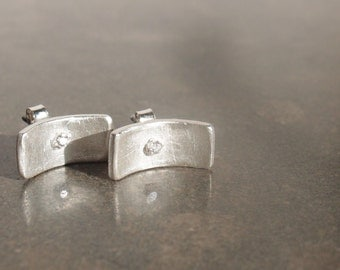 Silver earrings and zirconia - Zilveren oorstekers en zirkoon