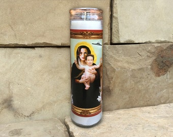 X-Files Sci-fi Celebrity Prayer Candle - Horror Decor - Humor - Parody Art - 7 Day Candle