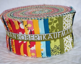 Pick a Bunch - Jelly Roll - 40 pieces - Fabric Strips - Nancy Mims - Robert Kaufman