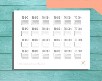 PRINTABLE To-Do List Planner Stickers