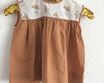 Vintage Kids Baby Girls Dress - Age 6 to 12 months