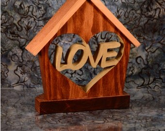 Heart Tea Light Holder Cottage-Unique-Inspirational Décor-LED Candle Holder-Love Tealight-Handcrafted Gift
