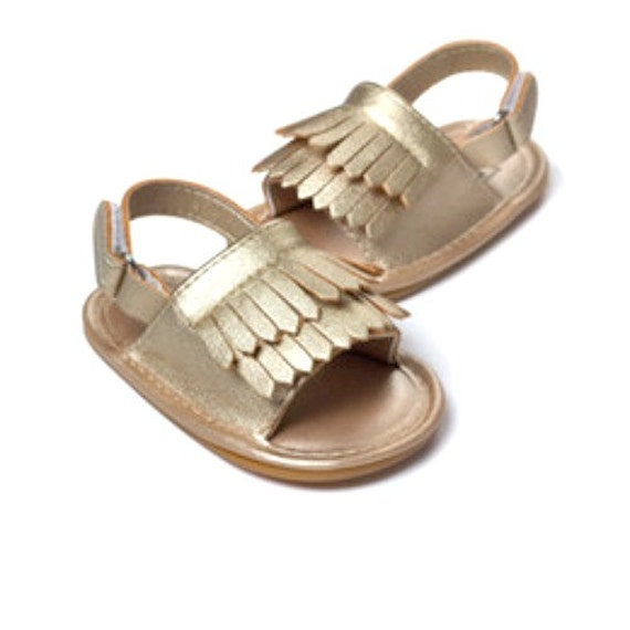 Gold sandals baby girl shoes baby girl sandals by BossBabesCo