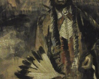 Coen original Native American mixed painting
