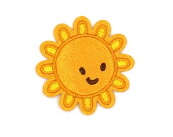 Sun Patch Sew On / Iron On DIY Patch Embroidered Applique 4.2x4.2cm - RP492