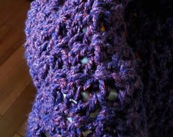 Purple Deep Rich Tones Adorable Baby Blanket