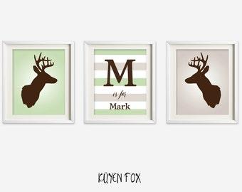 Deer Wall Art deer antler wall art | etsy