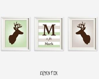 Deer Wall Decor deer antler wall art | etsy