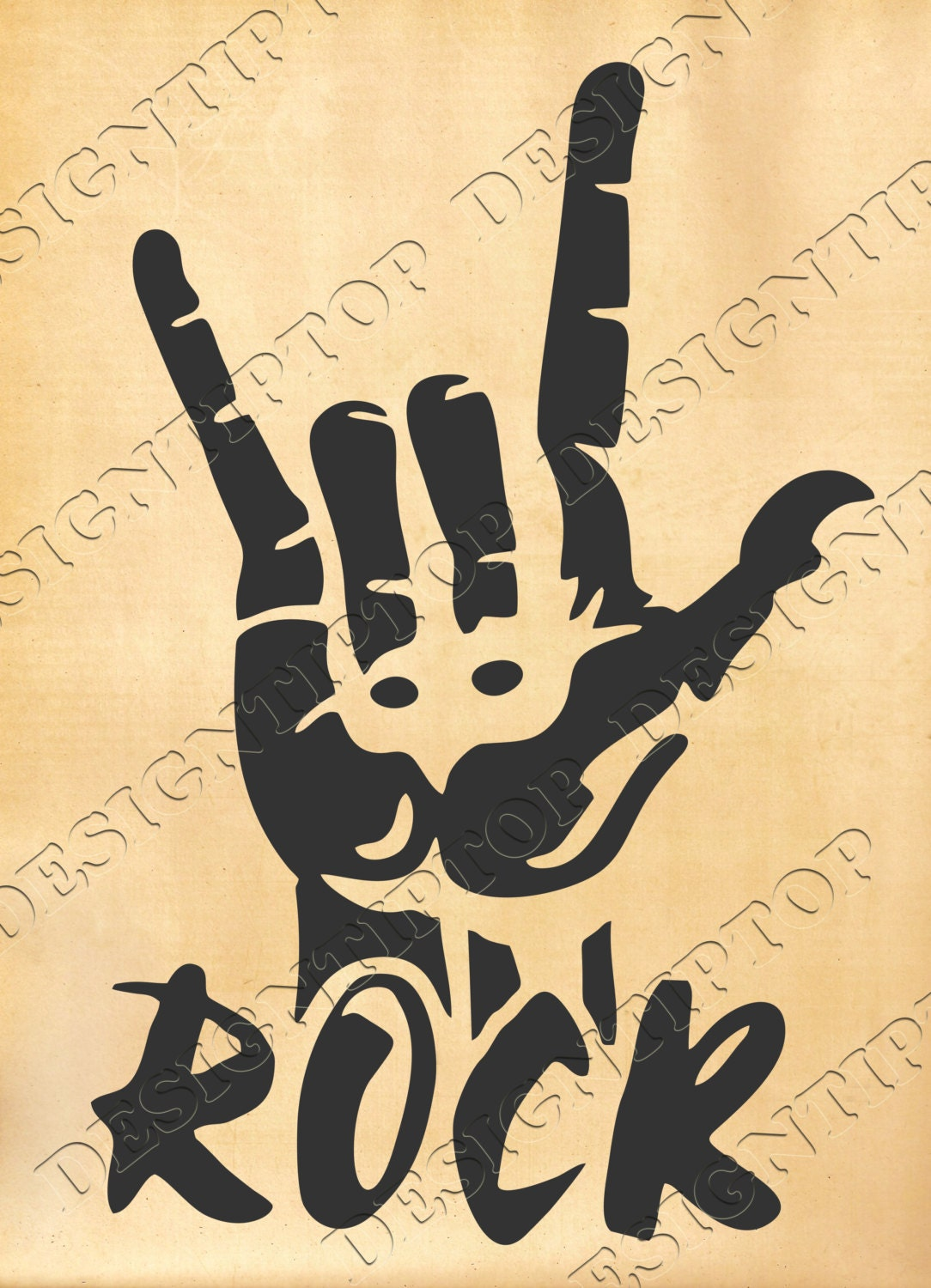 Rock And Roll Svg Rock Digital Files Rock Cut File Sign Of
