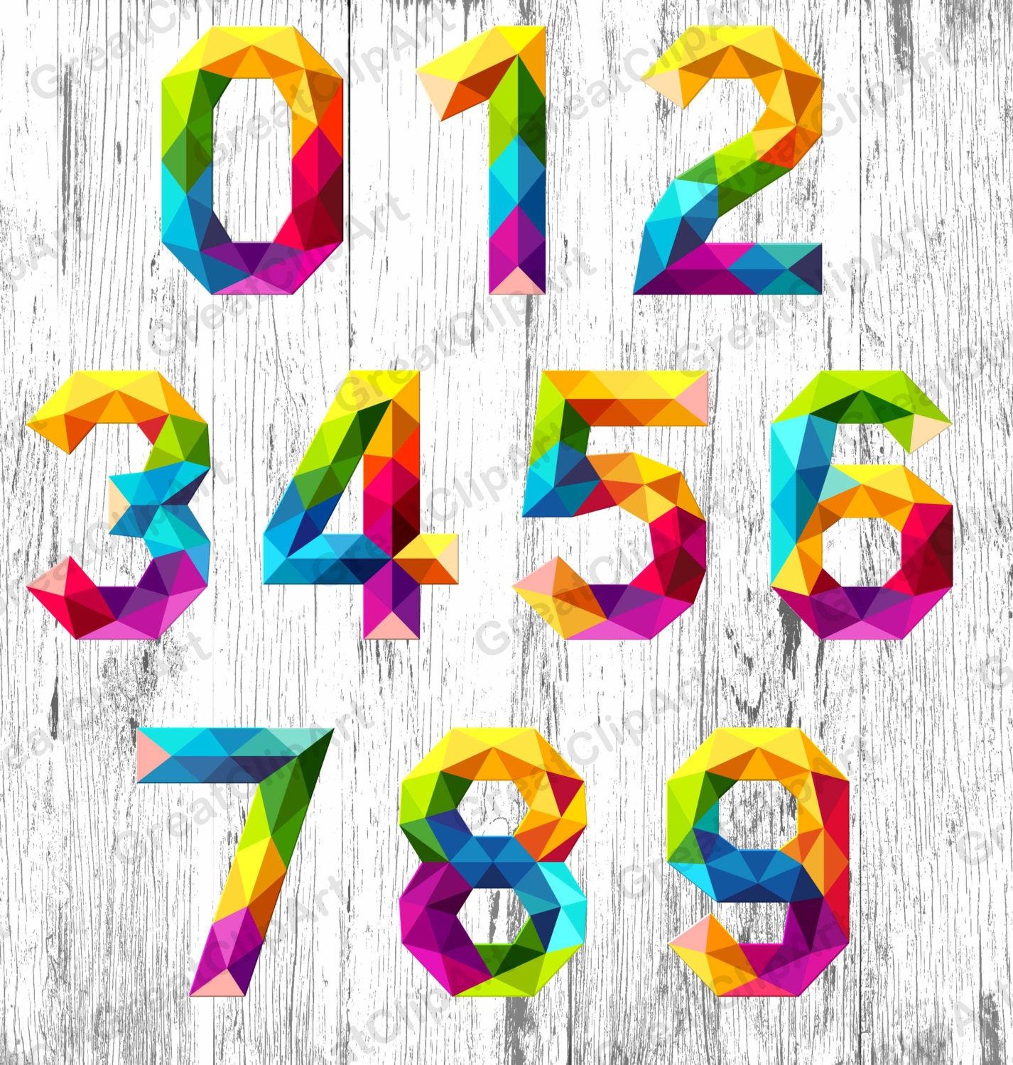 Numbers graphics | Etsy