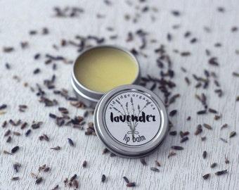 Organic Lavender Lip Balm - Organic Lip Chap - Organic Lip Salve - Organic Lip Balm