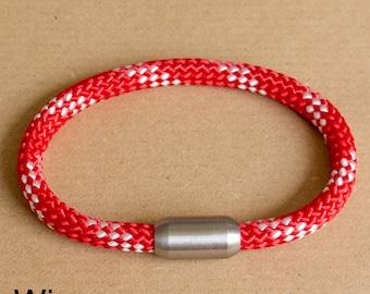 Red Rope Bracelet | White Red Bracelet | Sailing Rope | Mens Bracelet | Womens Bracelet