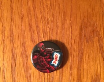 Deadpool button style refrigerator magnet, Deadpool refrigerator magnet, Deadpool kitchen magnet, Deadpool magnet