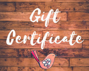 Gift Certificate for the Sweet Dailiness Shop