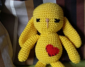 Crochet Yellow Bunny