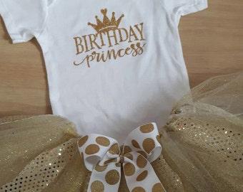 Gold and Sparkles Birthday Tutu, Birthday Tutu, Gold Birthday Tutu, First Year Birthday tutu, Gold Outfit, Gold and Sparkles,