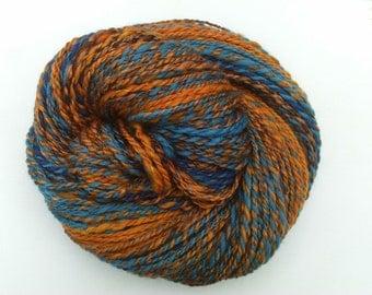 Hand Spun Art Yarn - Art Yarn - Wool - Hand Spinning - Aran Weight - Doll Hair - Scrapbooking - Ready to Ship