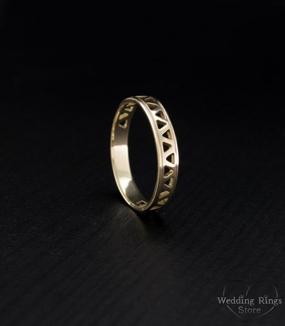 small wedding band classic wedding ring gold wedding band