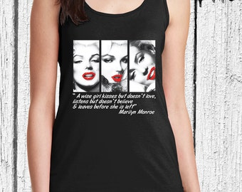 FREE SHIPPING Marilyn Monroe  Women Tank Top - Gift For Women - Women Tank Top -  Marilyn Monroe Shirt