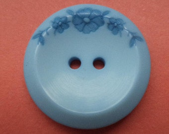 8 light blue buttons 23mm (5348) flower