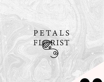 Pre-Made Logo   Blog Header   Petals Florist   Small Business   Blogger