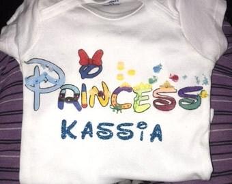 disney princess theme shirt/onesie