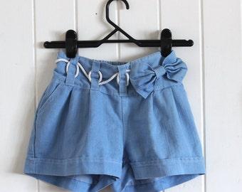 Cute, blue, high/ mid waisted shorts