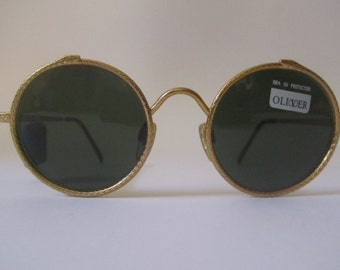 Vintage Sunglasses gold metal round Sunglasses Oliver NEW NEW year 1990 unisex 1821 1030 125