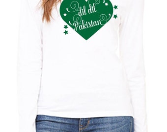 Dil Dil Pakistan Women's T - Shirt (Long Sleeved or Short Sleeved) - Relaxed Fit