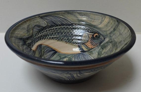 Blue koi fish bowl for Koi fish bowl
