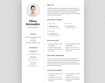 "Resume Template / CV Template + Cover Letter for MS Word and Photoshop | Instant Digital Download - ""Pollux"""
