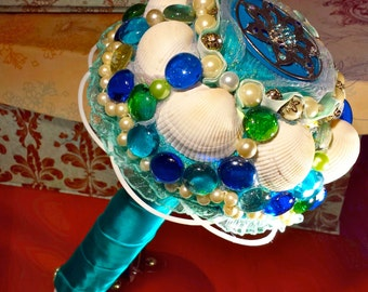 The Mermaid's Wedding Bouquet for a Seaside Themed Wedding