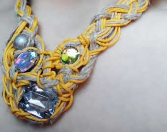 Abstract braided necklace